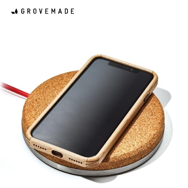 GROVEMADE Wireless Charging Pad Light グローブメイド ワイヤレス充電器(iPhoneX,iPhone8/8Plus対応)おしゃれ クール かっこいい Made in USA ポートランド 男性 メンズ 誕生日 プレゼント ギフト