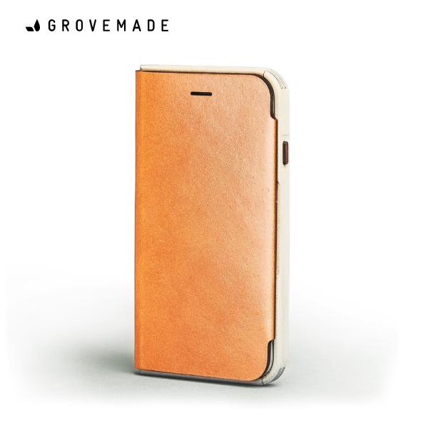 在庫処分価格!GROVEMADE Maple&Leather iPhoneXケース メイプルウッド スマホケース カードケース アイフォン 手帳型 おしゃれ クール かっこいい Made in USA ポートランド 男性 メンズ 誕生日 プレゼント ギフト