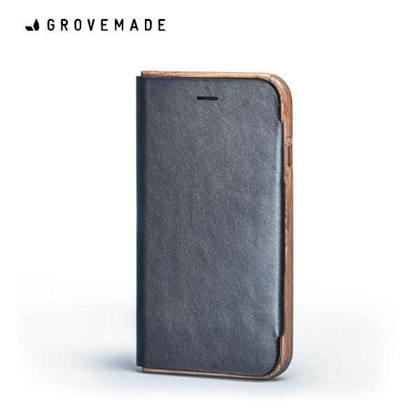 GROVEMADE Walnut&Leather iPhoneXケース ウォールナット スマホケース カードケース アイフォン 手帳型 おしゃれ クール かっこいい Made in USA ポートランド 男性 メンズ 誕生日 プレゼント ギフト