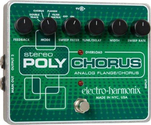 【レビューを書いて次回送料無料クーポンGET】Electro-Harmonix Stereo Poly Chorus 国内用電源アダプター付属 エフェクター [並行輸入品][直輸入品]【エレクトロ・ハーモニクス】【ポリコーラス】【PolyChorus】【エレクトロハーモニクス】【新品】