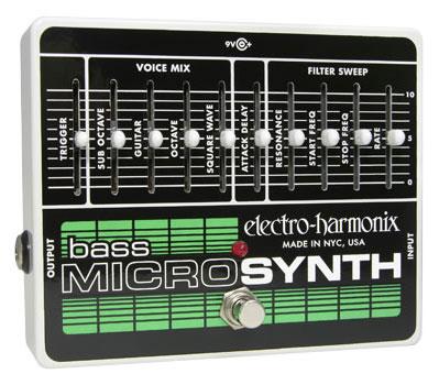 【レビューを書いて次回送料無料クーポンGET】Electro-Harmonix Bass MicroSynth 国内用電源アダプター付属 エフェクター [並行輸入品][直輸入品] 【エレクトロ・ハーモニクス】【MICRO SYNTHESIZER】【Micro Synth】【新品】