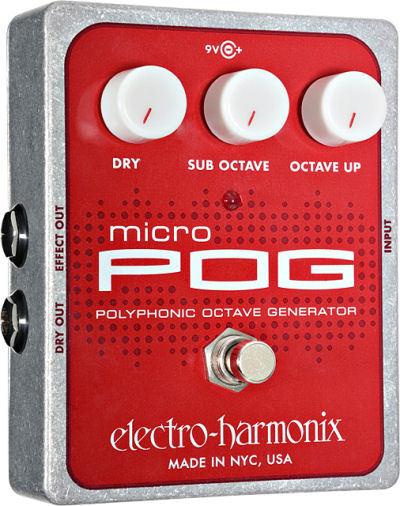 【レビューを書いて次回送料無料クーポンGET】Electro-Harmonix Micro POG 国内用電源アダプター付属 エフェクター [並行輸入品][直輸入品] 【エレクトロ・ハーモニクス】【オクターバー】【エレクトロハーモニクス】【ElectroHarmonix】【Electro Harmonix】【新品】