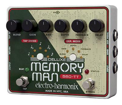 【レビューを書いて次回送料無料クーポンGET】Electro-Harmonix Deluxe Memory Man 550-TT 国内用電源アダプター付属 エフェクター [並行輸入品][直輸入品] 【エレクトロ・ハーモニクス】【ElectroHarmonix】【Electro Harmonix】【エレクトロハーモニクス】【新品】