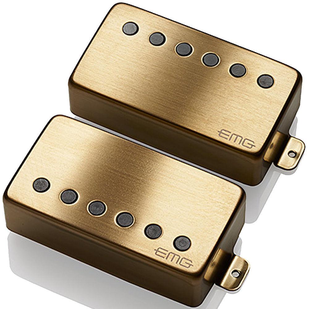 【レビューを書いて次回送料無料クーポンGET】EMG 57/66 set BRUSHED GOLD [並行輸入品][直輸入品]【新品】【ギター用ピックアップ】