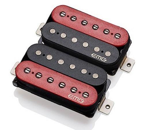 【レビューを書いて次回送料無料クーポンGET】EMG Super 77 Humbucker Set - RED/Black [並行輸入品][直輸入品]【新品】 【ギター用ピックアップ】