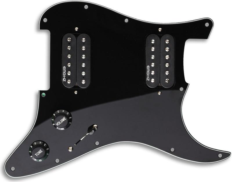 【レビューを書いて次回送料無料クーポンGET】EMG ST12 Strat Style Pre-Wired Pickguard H/H Black [並行輸入品][直輸入品]【ピンクフロイド】【新品】【ギター用ピックアップ】