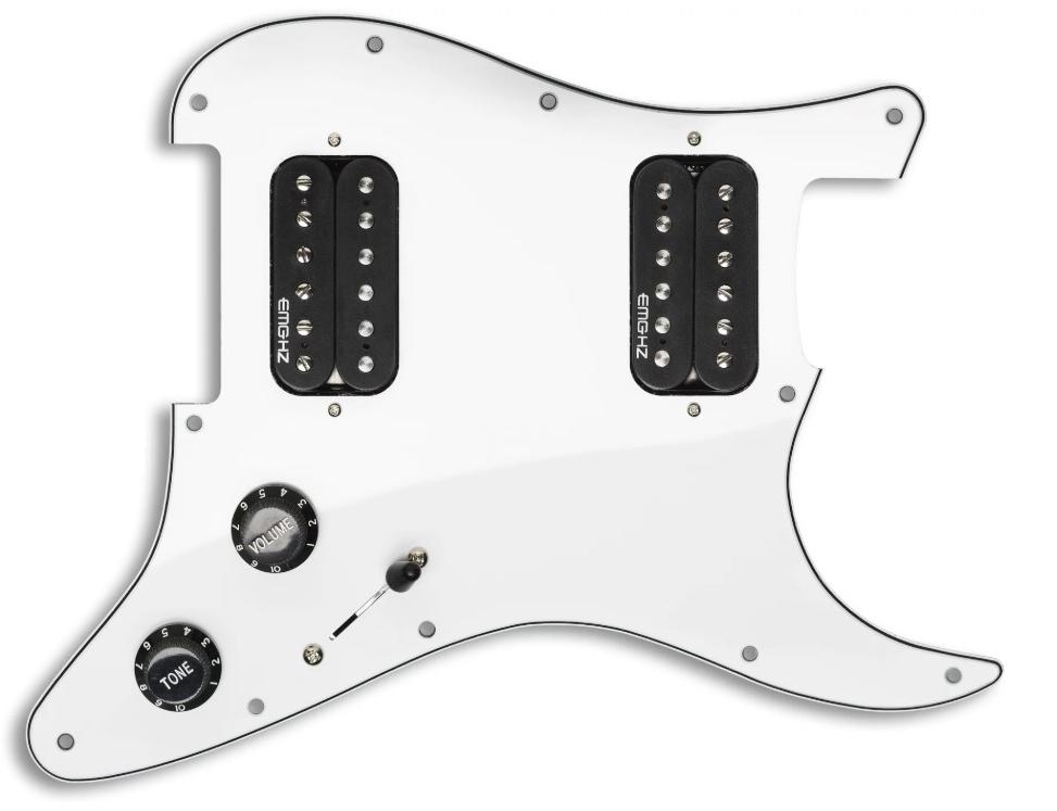 【レビューを書いて次回送料無料クーポンGET】EMG ST12 Strat Style Pre-Wired Pickguard H/H White [並行輸入品][直輸入品]【ピンクフロイド】【新品】【ギター用ピックアップ】
