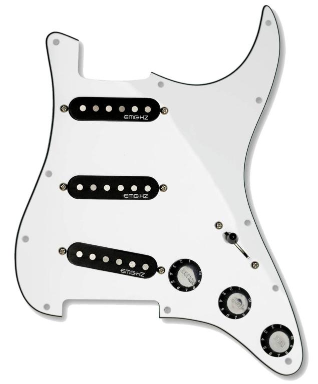 【レビューを書いて次回送料無料クーポンGET】EMG ST11 Strat Style Pre-Wired Pickguard S/S/S White [並行輸入品][直輸入品]【ピンクフロイド】【新品】【ギター用ピックアップ】