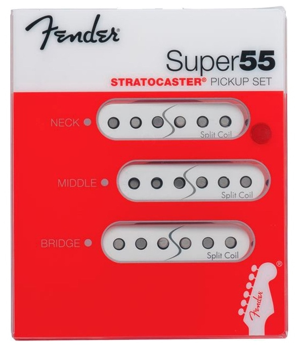 【レビューを書いて次回送料無料クーポンGET】Fender Super 55 Split Coil Stratocaster Pickup Set White [並行輸入品][直輸入品] 【フェンダー】【新品】【ギター用ピックアップ】