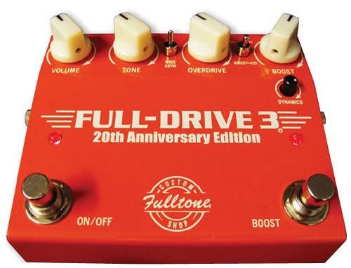 【レビューを書いて次回送料無料クーポンGET】Fulltone Custom Shop FULL-DRIVE 3 20th Anniversary Edition エフェクター [並行輸入品][直輸入品]【Fulldrive】【フルトーン】【フルドライブ】【オーバードライブ】【全世界5000台限定モデル】【新品】