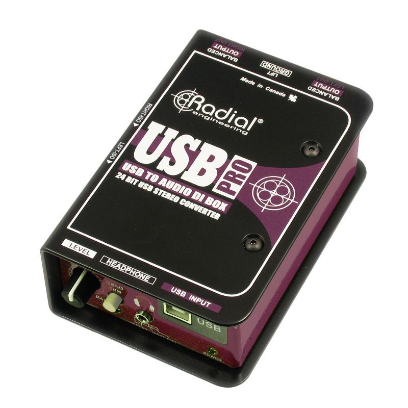 【レビューを書いて次回送料無料クーポンGET】Radial USB-PRO [並行輸入品][直輸入品]【ラディアル】【ステレオUSB】【新品】