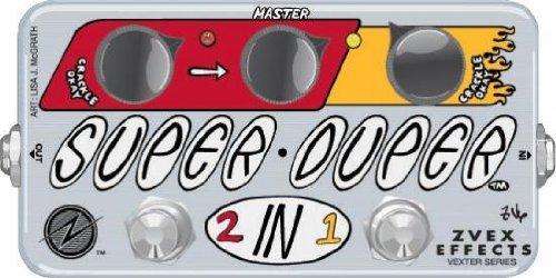 【レビューを書いて次回送料無料クーポンGET】Z.Vex Vexter Super Duper 2in1 エフェクター [直輸入品][並行輸入品] 【Z.Vex】【ブースター】【オーバードライブ】【ジーベックス】【新品】