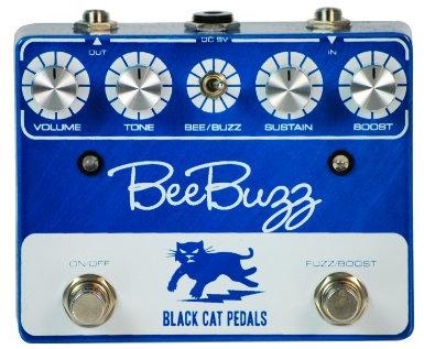 【レビューを書いて次回送料無料クーポンGET】BLACK CAT Bee Buzz Fuzz Pedal Blue エフェクター [並行輸入品][直輸入品] 【ブラックキャット】【ファズ】【新品】
