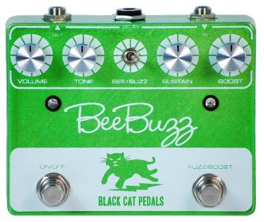【レビューを書いて次回送料無料クーポンGET】BLACK CAT Bee Buzz Fuzz Pedal Lime エフェクター [並行輸入品][直輸入品] 【ブラックキャット】【ファズ】【新品】
