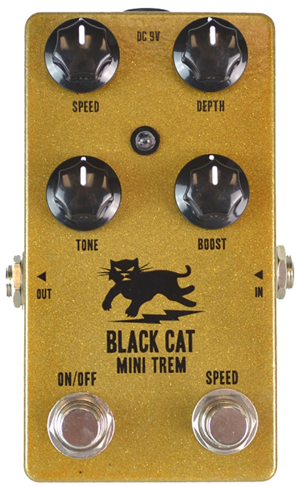 【レビューを書いて次回送料無料クーポンGET】BLACK CAT Mini Trem Tremolo Pedal エフェクター [並行輸入品][直輸入品] 【ブラックキャット】【トレモロ】【新品】