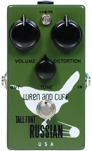 【レビューを書いて次回送料無料クーポンGET】Wren and Cuff Creations Tall Font Russian エフェクター [直輸入品][並行輸入品] 【トール・フォント・ロシアンファズ】【ファズ】【ディストーション】【新品】