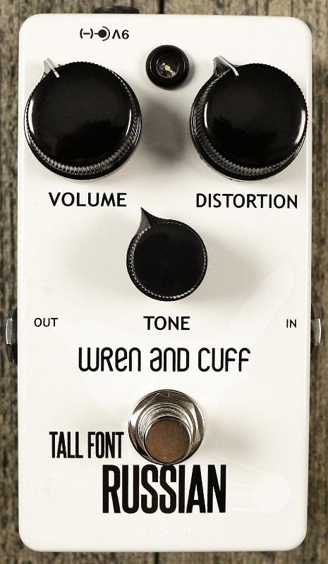 【レビューを書いて次回送料無料クーポンGET】Wren and Cuff Tall Font White Russian Fuzz - Limited Edition エフェクター [直輸入品][並行輸入品] 【トール・フォント・ロシアンファズ】【ファズ】【ディストーション】【新品】