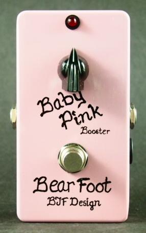 【レビューを書いて次回送料無料クーポンGET】BearFoot Guitar Effects Baby Pink Booster エフェクター【メーカー1年保証】【ベアフット】【ブースター】【新品】