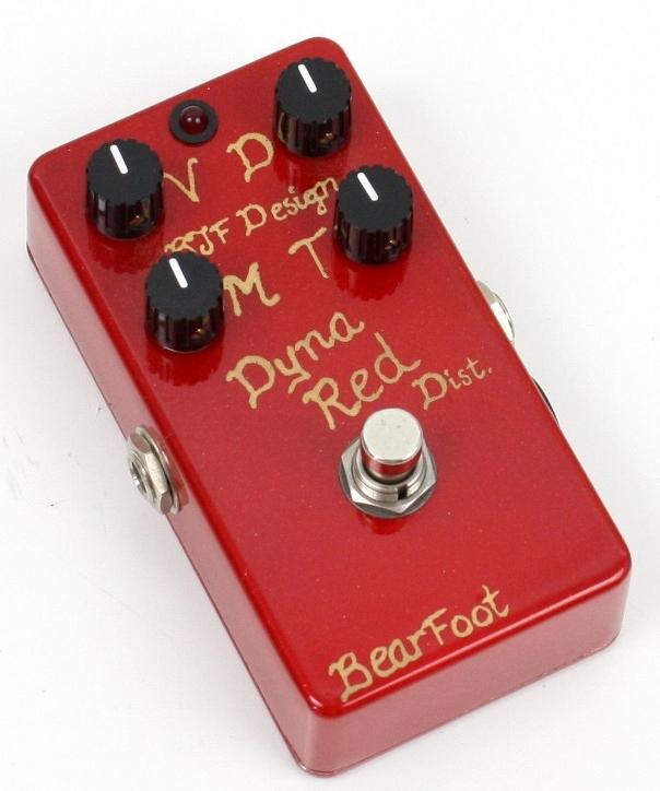 【レビューを書いて次回送料無料クーポンGET】BearFoot Guitar Effects Dyna Red Dist. 4knob エフェクター【メーカー1年保証】【ベアフット】【ディストーション】【新品】