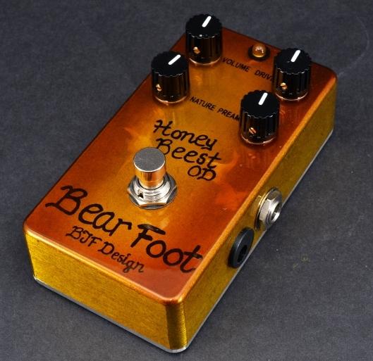 【レビューを書いて次回送料無料クーポンGET】BearFoot Guitar Effects Honey Beest OD エフェクター【メーカー1年保証】【ベアフット】【オーバードライブ】【新品】