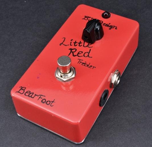 【レビューを書いて次回送料無料クーポンGET】BearFoot Guitar Effects Little Red Trebler エフェクター【メーカー1年保証】【ベアフット】【ブースター】【新品】