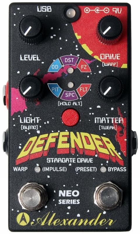 【レビューを書いて次回送料無料クーポンGET】Alexander Pedals Neo Series Defender Stargate Drive エフェクター【1年保証】【アレキサンダー】【新品】