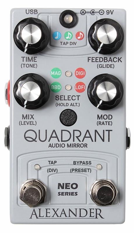 【レビューを書いて次回送料無料クーポンGET】Alexander Pedals Neo Series Quadrant Audio Mirror エフェクター【1年保証】【アレキサンダー】【新品】