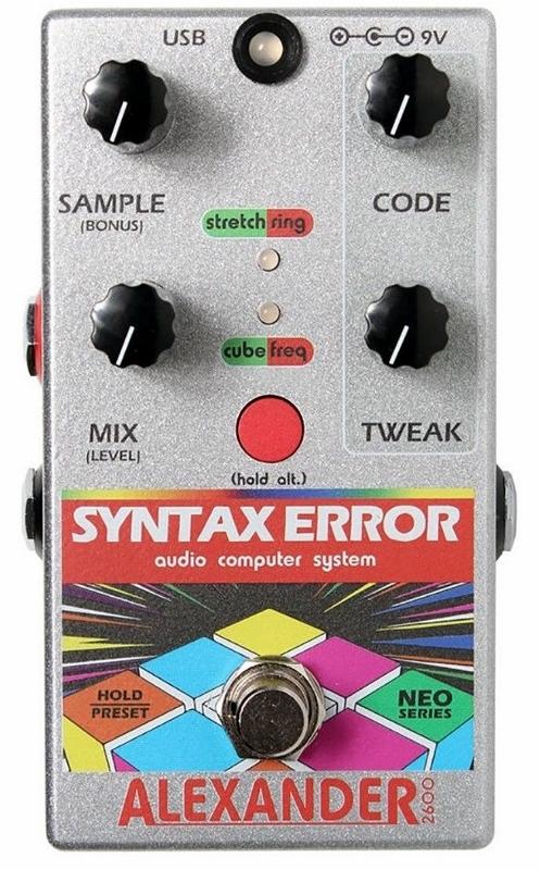 【レビューを書いて次回送料無料クーポンGET】Alexander Pedals Neo Series Syntax Error エフェクター【1年保証】【アレキサンダー】【新品】