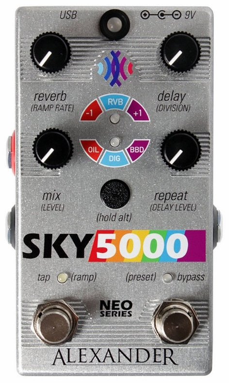 【レビューを書いて次回送料無料クーポンGET】Alexander Pedals Neo Series Sky 5000 Reverb Delay エフェクター【1年保証】【アレキサンダー】【新品】