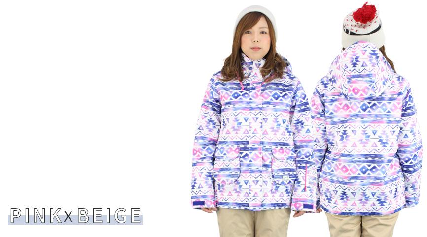 ONYONE(オンヨネ) ONS89412 スキーウェア レディース 上下セット 大人 スキースーツ ONS89412 954p197(PINKXBEIGE)