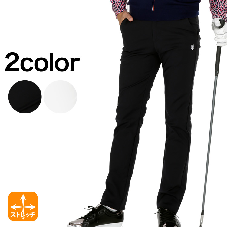 綿ナイロンストレッチテーパードパンツ efficace-homme/エフィカスオム 秋冬ゴルフウェア
