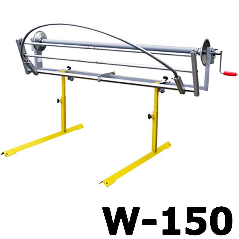 【大型配送】シート巻取機 W-150 (ハンドル駆動式) みのる産業 シBD