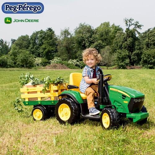 ペグペレーゴ 電動バッテリー トラクター ジョンディア John Deere グランドフォース IGOR0047 組立要 Peg-Perego 乗用玩具 乗り物 子ども プレゼント ギフト