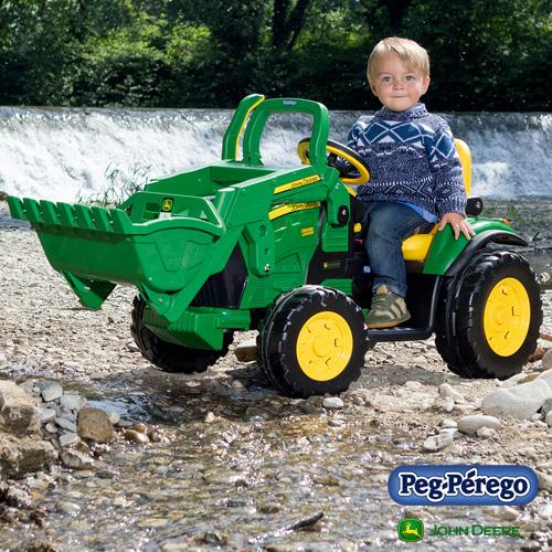 ペグペレーゴ 電動バッテリー トラクター ジョンディア John Deere グランドローダー IGOR0068 組立要 Peg-Perego 乗用玩具 乗り物 子ども プレゼント ギフト
