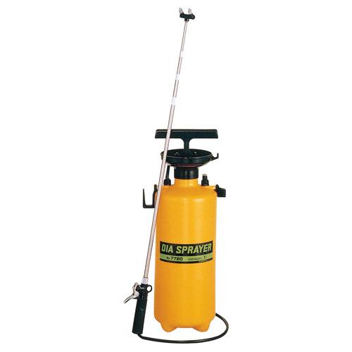 フルプラ プレッシャー式 噴霧器 No.7720 2頭式 最長2.1m 伸縮ノズル (4段式)付 7L用 霧吹き ミスト 細かい 霧 丈夫 金TD