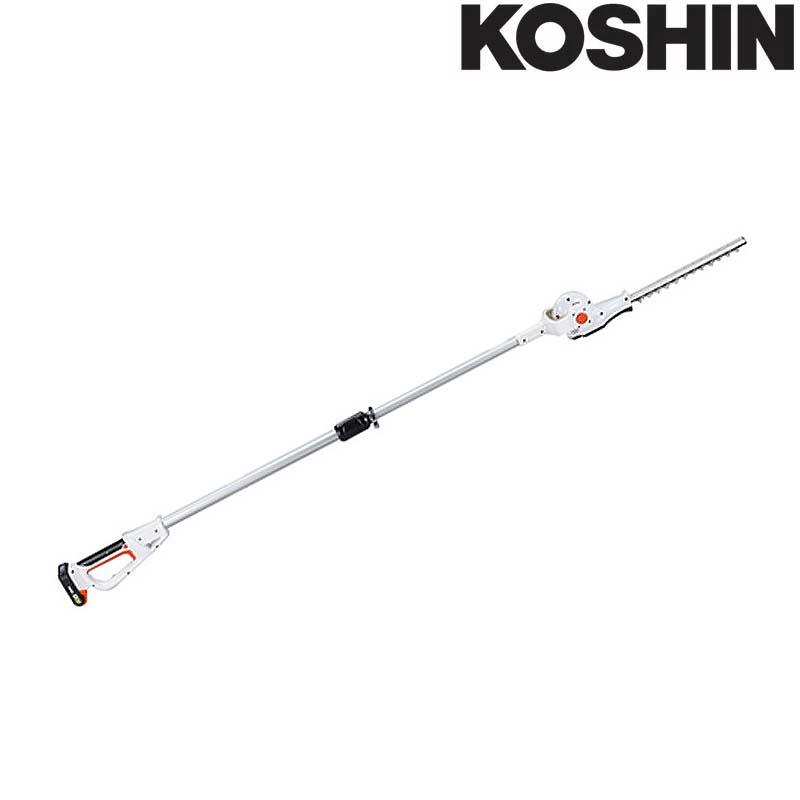 充電式伸縮ポールヘッジトリマ SPH-18N (バッテリー,充電器なし) 最大切断枝径18mm 伸縮式 最長2.2m 工進 KOSHIN 生垣 剪定用 シB 代引不可