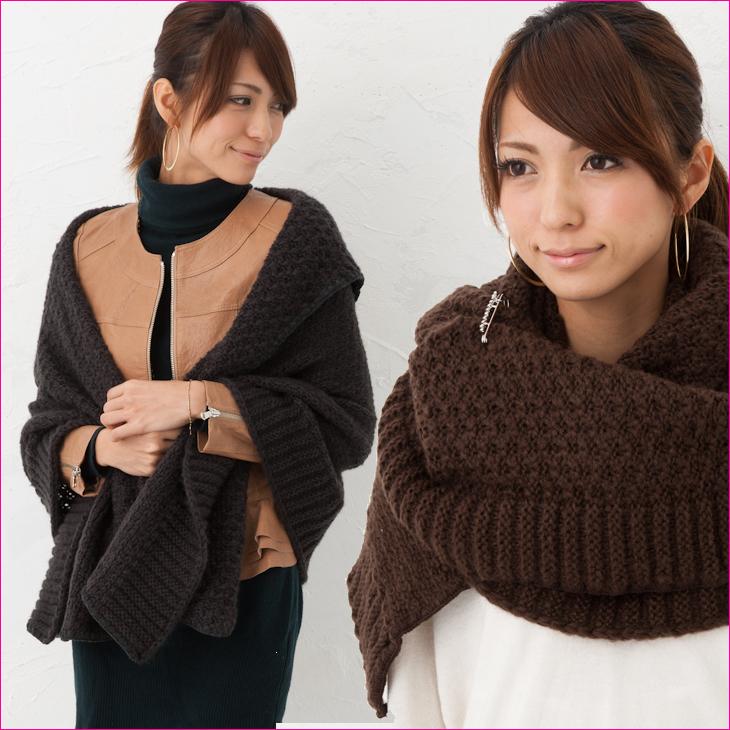 最終売尽くし価格 羽織っておしゃれなざっくり編みショールです 巻き方色々 大判ストール NEW売り切れる前に☆ マフラーメール便不可 本物 810 在庫わずか