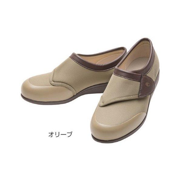 アサヒシューズ 快歩主義L049(足囲3E)/オリーブ 24.5cm