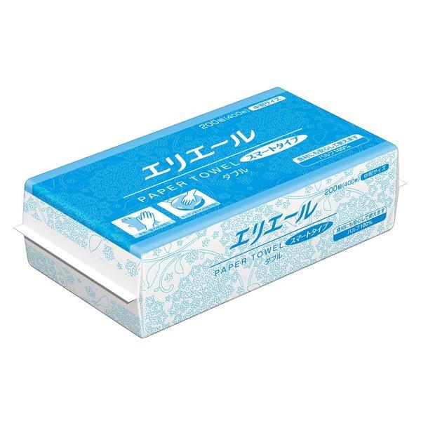 (ケース販売)エリエール ペーパータオル スマートタイプダブル 中判ダブル 200組×35パック(大王製紙)