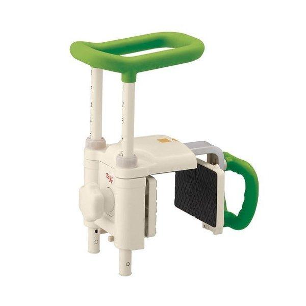 アロン化成 安寿 高さ調節付浴槽手すり UST-200N/グリーン