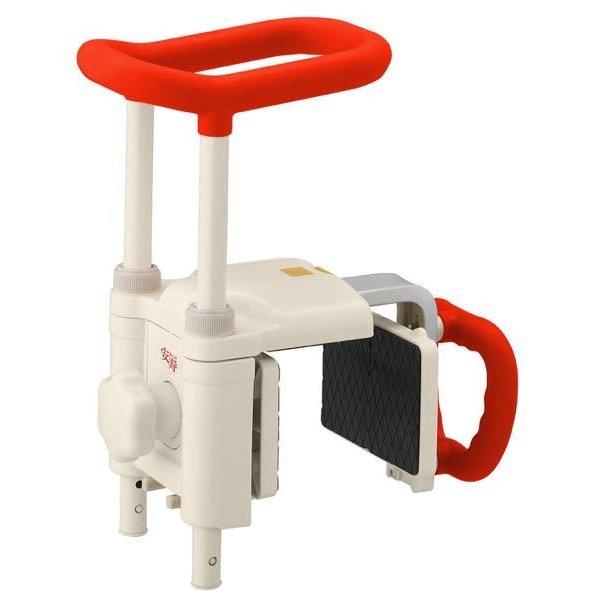 アロン化成 安寿 高さ調整付浴槽手すり UST-200N/レッド