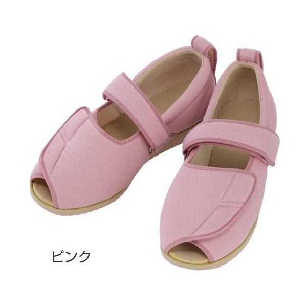 あゆみ オープンマジックII(足囲3E)ピンク/LL(24~24.5cm)左右一足(徳武産業)