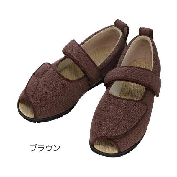 あゆみ オープンマジックII(足囲3E)ブラウン/L(23~23.5cm)左右一足(徳武産業)