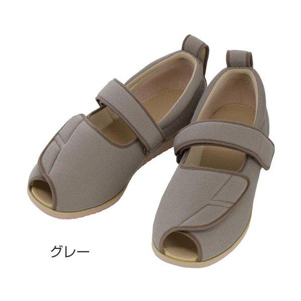 あゆみ オープンマジックII(足囲3E) Mグレー/M(22.0~22.5cm)左右一足(徳武産業)