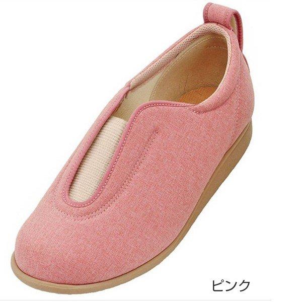 あゆみ センターゴムII(足囲3E) ピンク/S(21~21.5cm)左右一足(徳武産業)