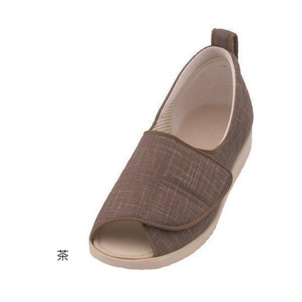 あゆみ オープン和(足囲3E)茶/M(22~22.5cm)左右一足(徳武産業)