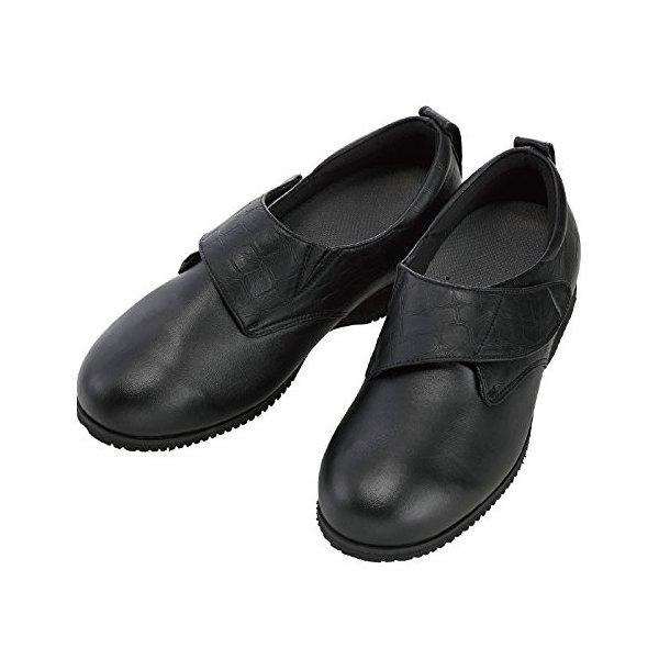 あゆみ ウィングストレッチ合皮(足囲3E)黒/3L(25~25.5cm)左右一足(徳武産業)