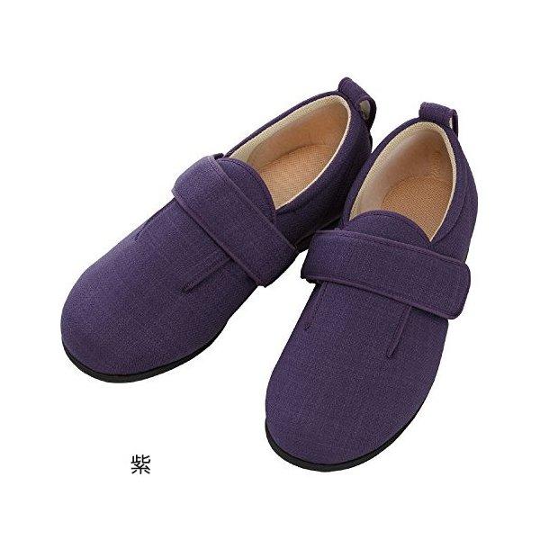 あゆみ ダブルマジックIII(足囲7E)紫/S(21~21.5cm)左右一足(徳武産業)