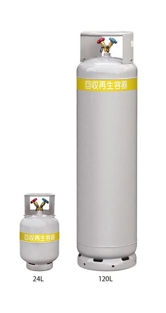アサダ OP TF080 1/4X24L/フロンボンベ