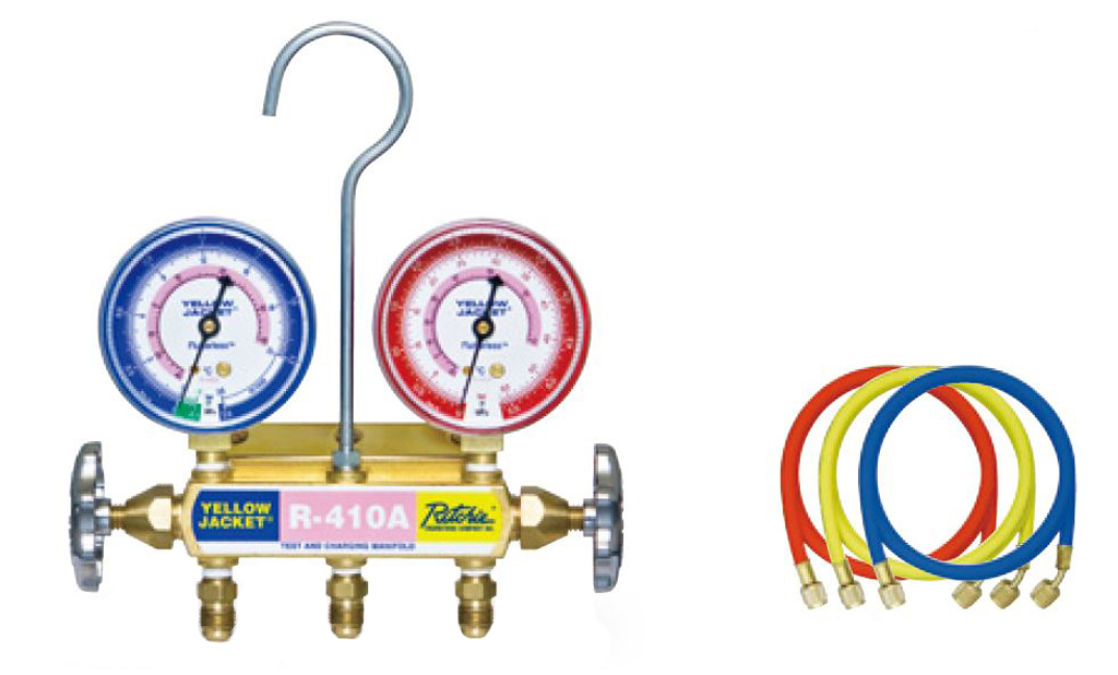 絶妙なデザイン キツト68/R410A:GAOS 店 アサダ マニホールド Y40954-DIY・工具
